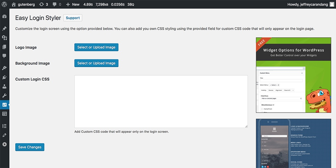 Customize Login Page and Upload Your Logo